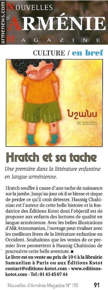 Nouvelles d'Arménie n° 195.